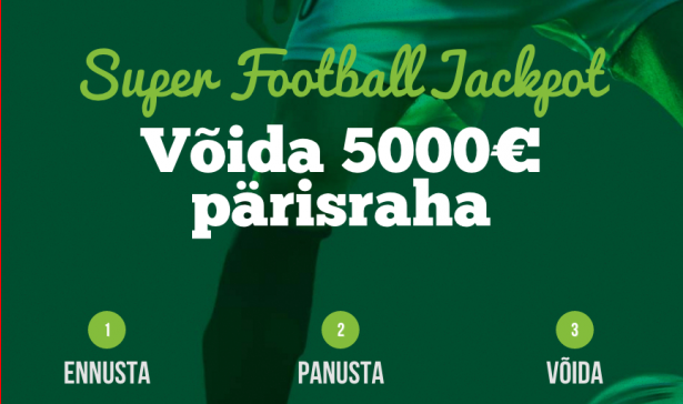 Võida Pafis 5000 euro Super Football Jackpot