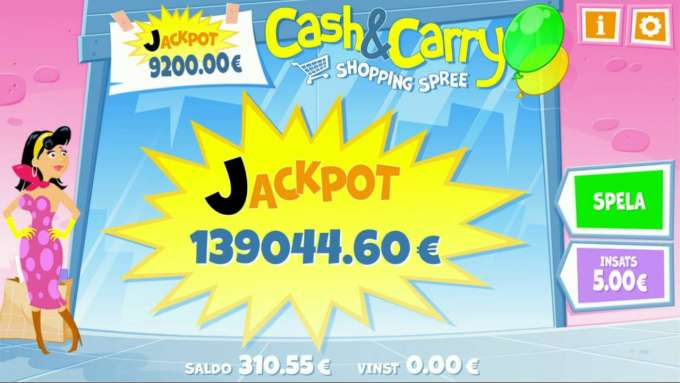 Cash and Carry Shopping Spree Jackpot win